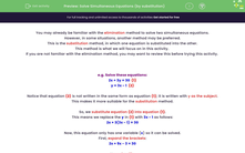 'Solve Simultaneous Equations (by substitution)' worksheet