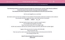 'Number Logic Practice 1' worksheet