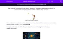 'Satellites in Orbit' worksheet