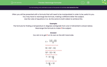 'Rearrange Formulae' worksheet