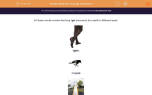 'Spell the Long 'igh' Phoneme 3' worksheet