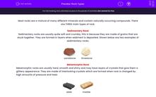 'Rock Types' worksheet