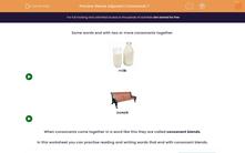 'Revise Adjacent Consonants 7' worksheet