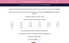 'Recognise the Letter Code' worksheet