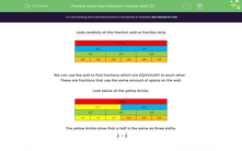 'Know Your Fractions: Fraction Wall (3)' worksheet