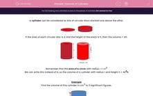 'Volumes of Cylinders' worksheet