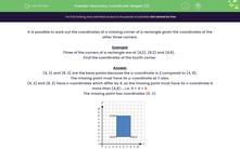 'Geometry: Coordinate Shapes (3)' worksheet