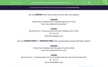 'Addition or Subtraction Statements (2)' worksheet