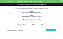 'Write an Integer Between Two Given Numbers' worksheet