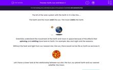 'Earth, Sun and Moon 2' worksheet