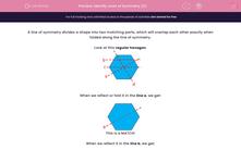 'Identify Lines of Symmetry (2)' worksheet
