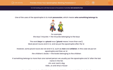 'Know Your Apostrophes: Marking Possession 3' worksheet