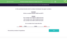 'Number Sequence: Create Your Own' worksheet