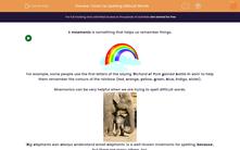 'Tricks For Spelling Difficult Words' worksheet