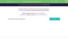 'Is it Prime or Composite? (1)' worksheet