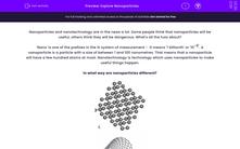 'Explore Nanoparticles' worksheet