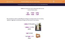 'Adding -ing and -ed to Verbs' worksheet