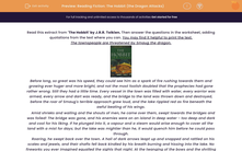'Reading Fiction: The Hobbit (the Dragon Attacks)' worksheet