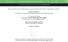 'Recognise Correlation and Causation' worksheet