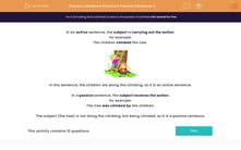 'Sentence Structure: Passive Sentences 2' worksheet