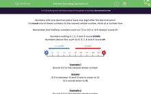 'Rounding Decimals (1)' worksheet