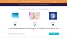 'Digraphs 'ue', 'ew' and 'oo' 2' worksheet