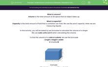 'Understand Conversions Between Standard Units of Volume' worksheet