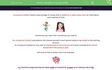 'Calculate Compound Interest' worksheet