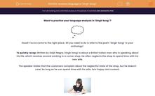 'Analyse language in 'Singh Song!'' worksheet