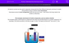 'Understand How Electrolysis Works' worksheet