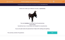'Spelling: Find the Phonemes 3' worksheet