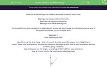 'Measure and Read Bearings' worksheet