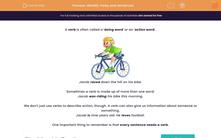 'Identify Verbs and Sentences' worksheet