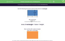 'Calculate Areas: Parallelograms' worksheet
