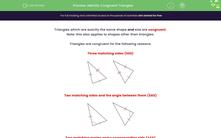 'Identify Congruent Triangles ' worksheet