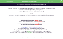 'Add Directed Numbers' worksheet