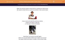 'Sentence Work: Does it make sense? 1' worksheet