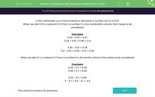 'Increasing or Decreasing a Number by 0.1 or 0.01' worksheet