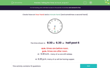 'Telling the Time: Is it a.m. or p.m.?' worksheet