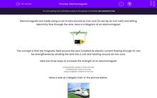 'Electromagnets' worksheet