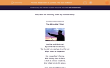 'Read Poetry in Context: 'The Man He Killed' ' worksheet