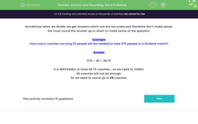 'Division and Rounding: Word Problems' worksheet