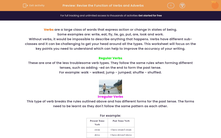 'Revise the Function of Verbs and Adverbs' worksheet