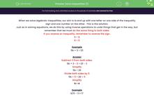 'Solve Inequalities (1)' worksheet