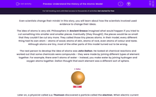 'Understand the History of the Atomic Model' worksheet