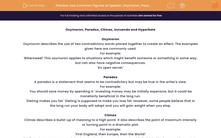 'Use Common Figures of Speech: Oxymoron, Paradox, Climax, Innuendo, Hyperbole' worksheet