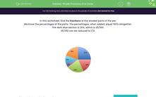 'Shade Fractions of a Circle' worksheet