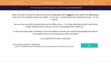 'Writing to Advise' worksheet