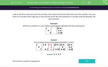 'Know Your Numbers: Choose a Number to Fill the Gap' worksheet