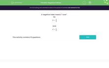 'Negative Indices' worksheet